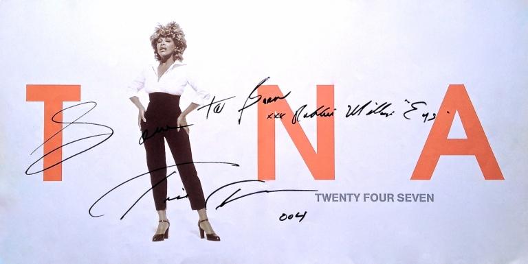 Ben's Tina Turner's signature