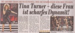 Tina Turner - Bild Hamburg newspaper - January 31, 2009