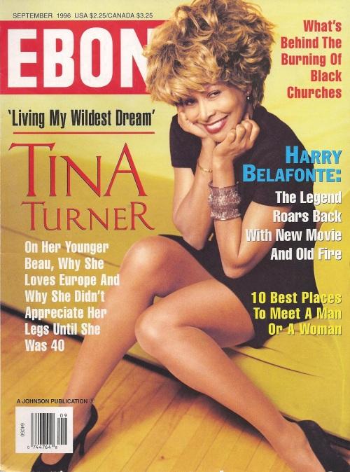 Tina Turner - Ebony magazine - September 1996 - cover