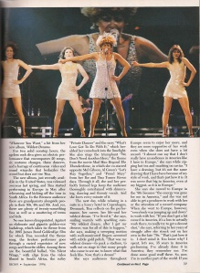 Tina Turner - Ebony magazine - September 1996 - 2