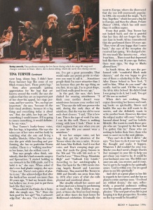 Tina Turner - Ebony magazine - September 1996 - 6