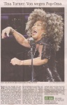 Tina Turner - Hamburger Abendblatt newspaper - January 31, 2009