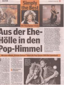 Tina Turner - Hamburger Morgenpost newspaper - January 31, 2009 - 3