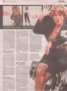 Tina Turner - Hamburger Morgenpost newspaper - January 31, 2009 - 4