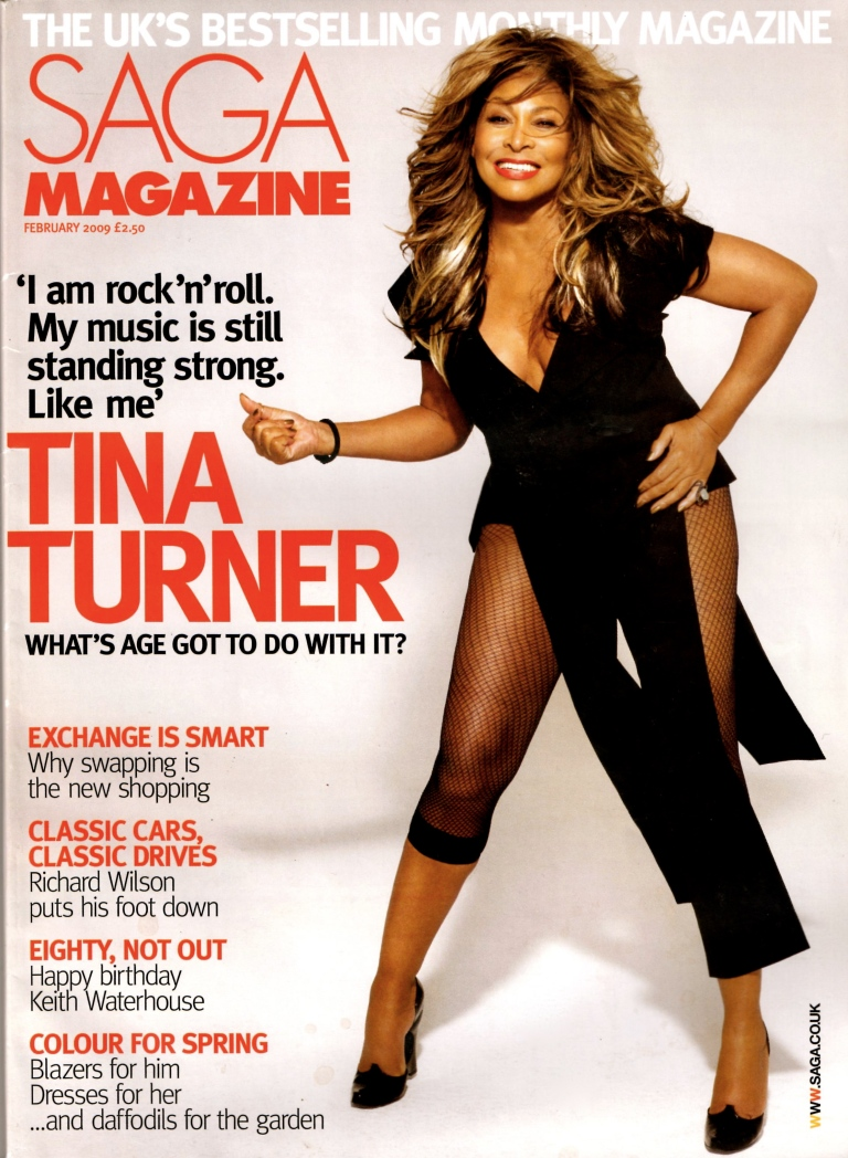 Tina Turner - Saga magazine 2009 - cover