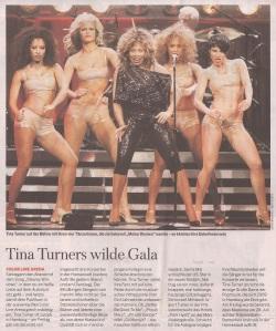 Tina Turner - Welt am Sonntag newspaper - February 1, 2009