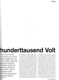 Tina Turner -Bolero Magazine - 3