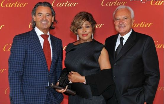 Tina Turner & Erwin Bach - Cartier Exhibition - Zurich 31st August 2011