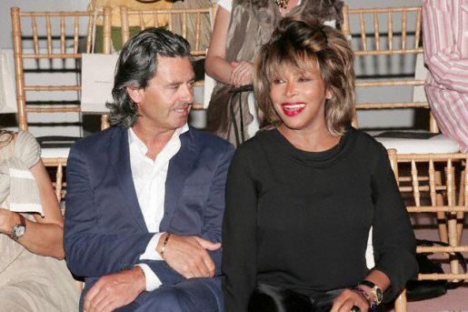 Tina Turner & Erwin Bach at fashion show- 06 Jul 2005, Paris, France