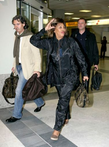 Tina Turner & Erwin Bach arriving at Nice Airport - 15 May 2007