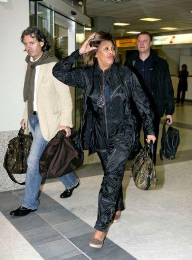 Tina Turner & Erwin Bach arriving at Nice Airport - 15 May 2007