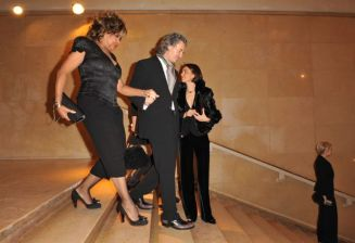 Tina Turner & Erwin Bach at Armani Privé Fashion Show - 25 Jan 2010 - 2