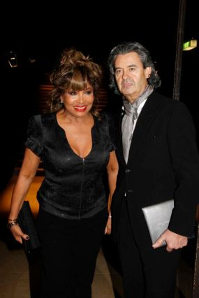 Tina Turner & Erwin Bach at Armani Privé Fashion Show - 25 January 2010