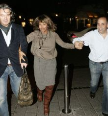 "Tina Turner & Erwin Leaving "" La Vita"" restaurant - Cologne 23 October 2006"