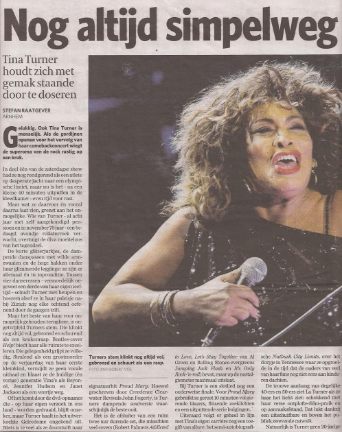 Tina Turner - Algemeen Dagblad - March 23, 2009 - 01