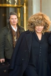 Tina turner and Erwin Bach leaving hotel in Stockholm - April 2009