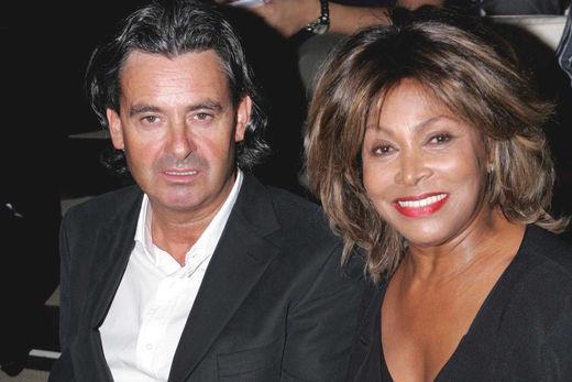 Tina Turner & Erwin Bach at Fashion Show - Paris, June 2004