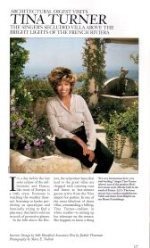 Tina Turner- Architectural Digest 3