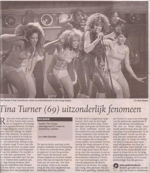 Tina Turner - De Gelderlander - March 23, 2009