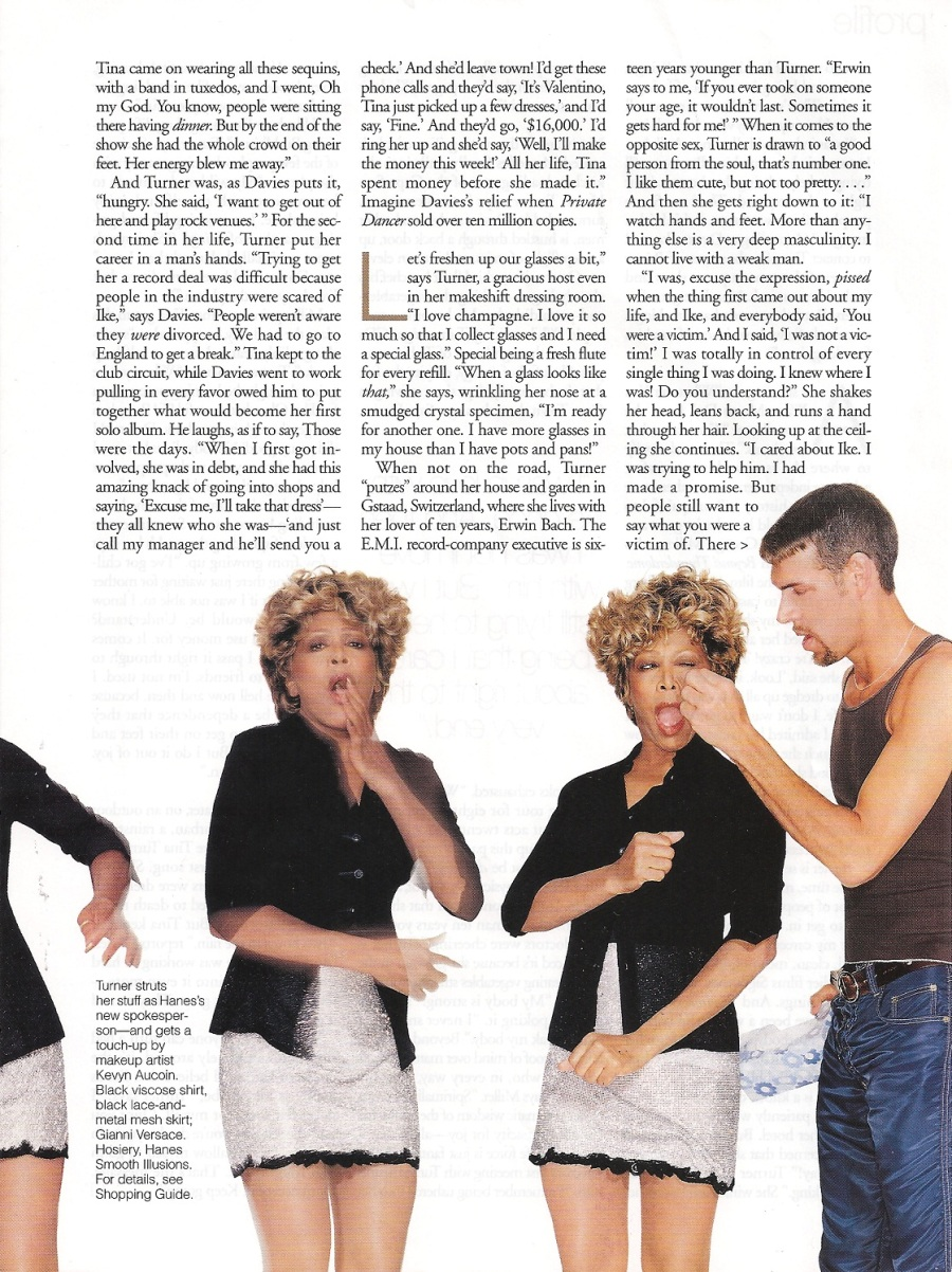 Tina Turner - Elle magazine - August 1996 - 05