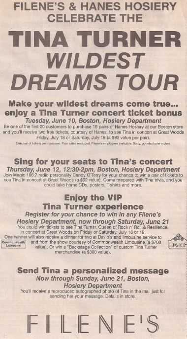 Tina Turner - Hanes advertisement (3) - USA - 1997