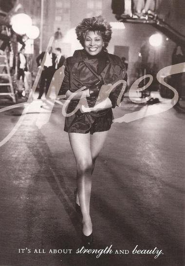 Tina Turner - Hanes postcard (2) - USA - 1997