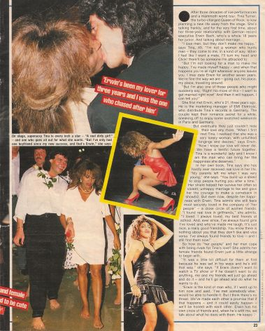Tina Turner & Erwin Bach - UK magazine 1988 - 02