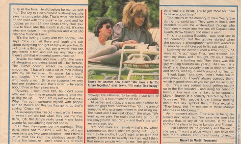 Tina Turner & Erwin Back - UK magazine 1988 - 03