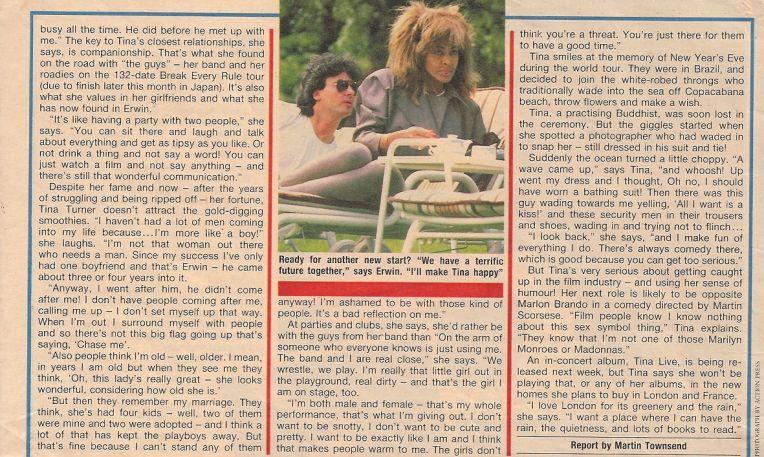 Tina Turner & Erwin Bach - UK magazine 1988 - 03