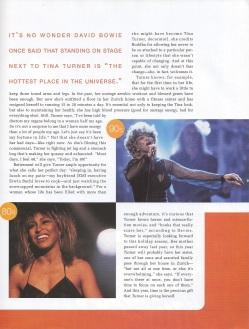 Tina Turner - Target Magazine - Holiday 2000 - 07