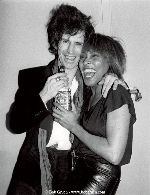 Tina & Keith Richards at The Ritz in 1983