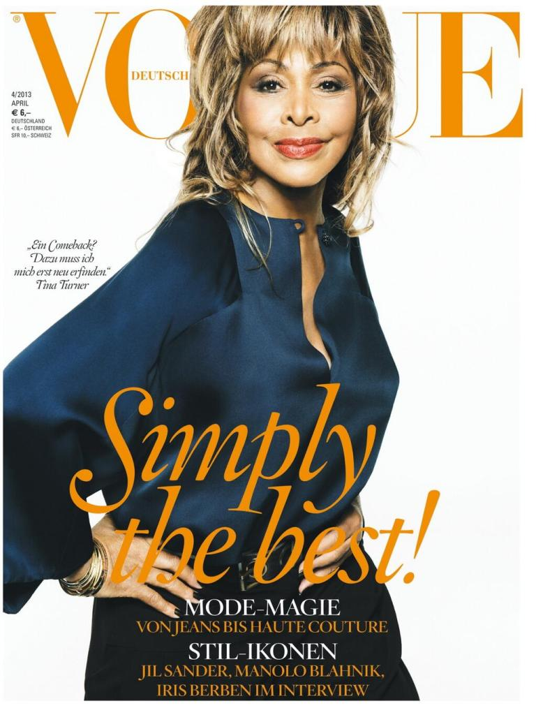 Tina Turner in German Vogue - April 2013