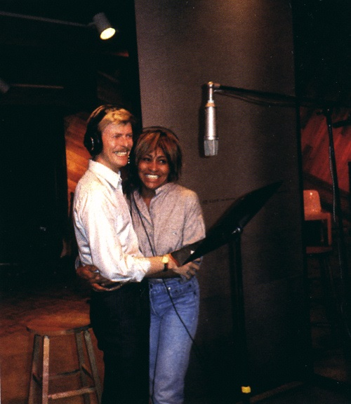 Tina and David in the recording studio