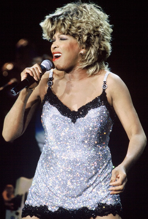 Tina Turner performing in 1997