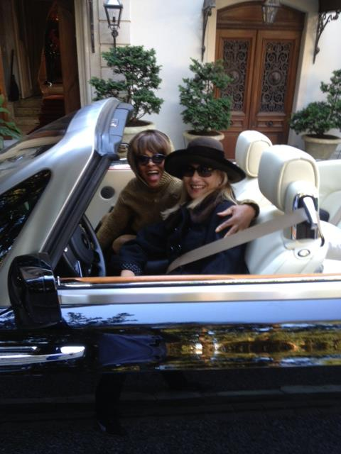 Tina Turner & Regula Curti in front of Tina Turner's Chateau Algonquin in Zurich (March 2013)