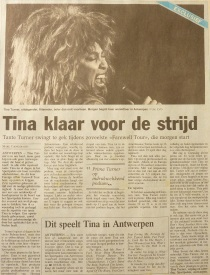 Tina Turner - Foreign Affair opening night - newspaper clipping (2)