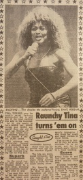 Tina Turner - Foreign Affair opening night - newspaper clipping (5)