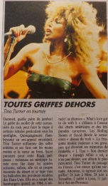 Tina Turner - Foreign Affair opening night - newspaper clipping (7)