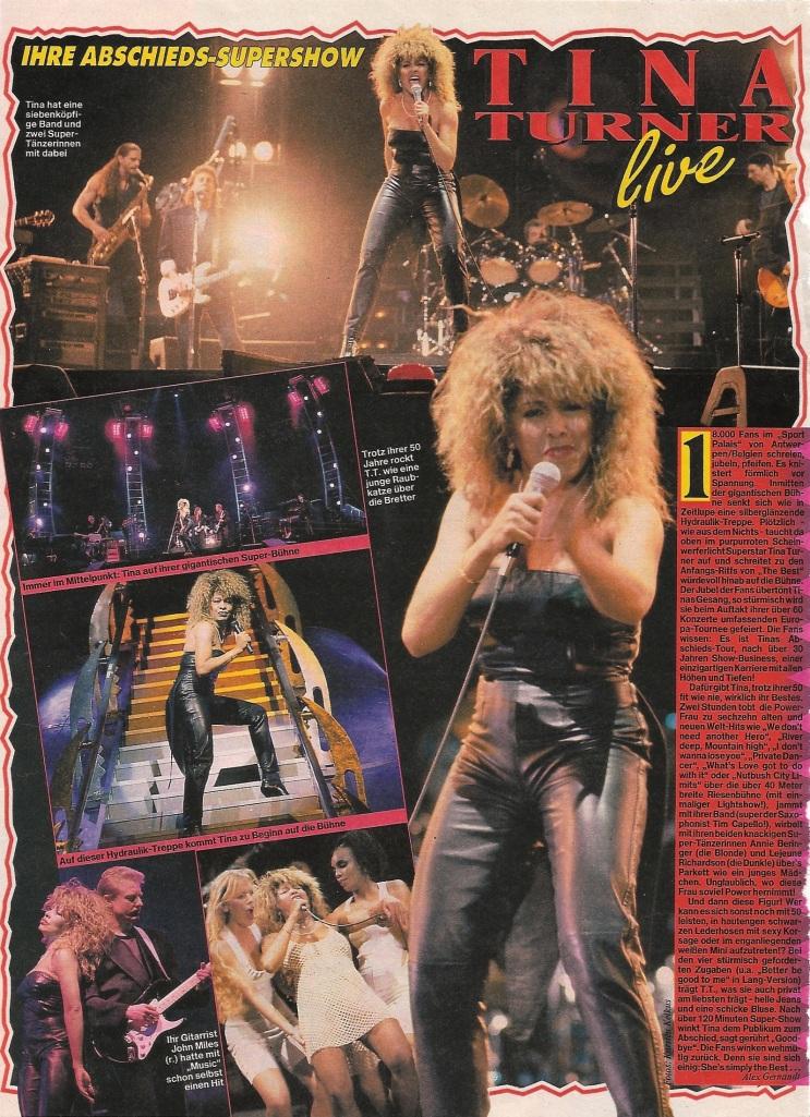 Tina Turner - opening night Antwerp, Belgium - 1990