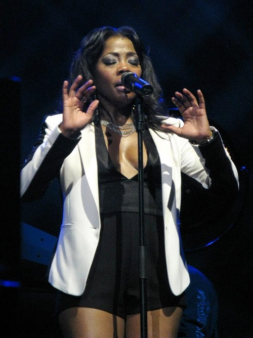 Nichelle Tillman during a Joe Cocker concert - Berlin, Germany - April 25, 2013