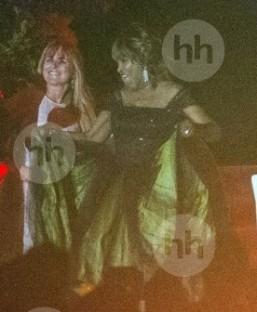 Tina Turner Wedding Green Dress