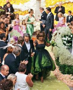 Tina Turner & Erwin Bach's Wedding - Green Dress