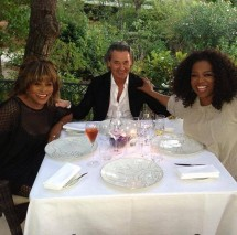 Tina Turner, Oprah Winfrey and Erwin Bach in the south of France - July 2013. (Oprah)