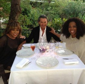 Tina Turner, Oprah Winfrey and Erwin Bach