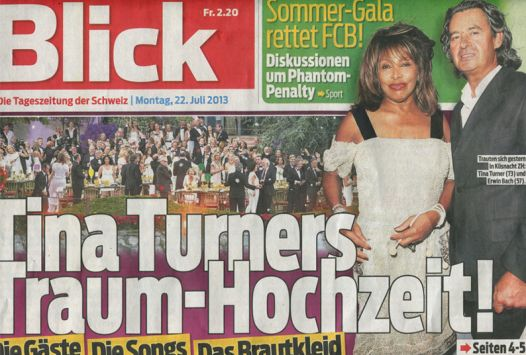 Tina Turner Wedding - Blick Newspaper 1