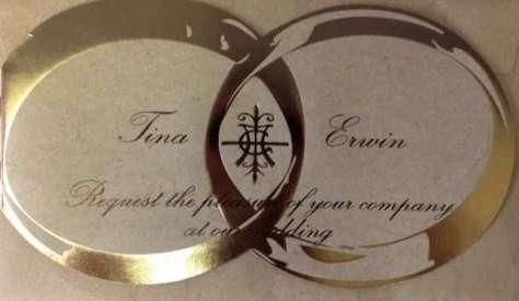 Tina Turner & Erwin Bach's wedding invitation (ZVG)