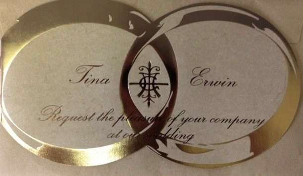 Tina Turner & Erwin Bach's wedding invitation (ZVG)