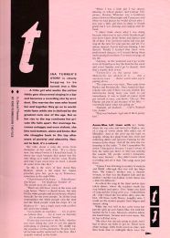 Tina Turner - Private Dancer Tour Book - 05