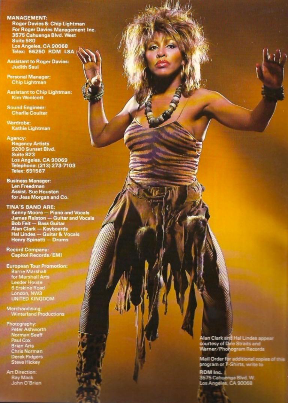 Tina Turner - Private Dancer Tour Book - 17
