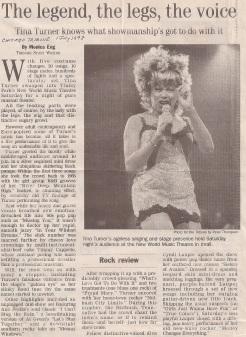 Tina Turner Concert Review Chicago Tribune - USA - 1997